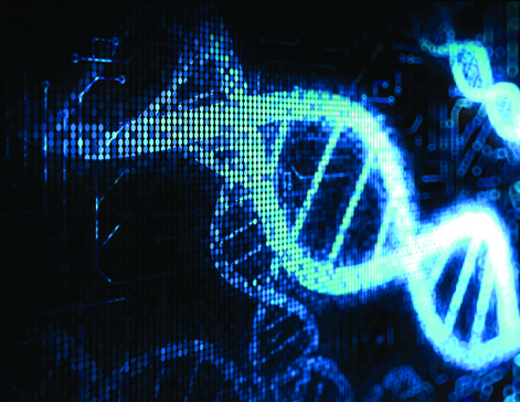 Dna strands graphic