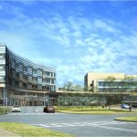 A rendering of the new, freestanding Penn State Hershey Children's Hospital, slated to open in late 2012.