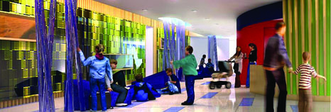 Rendering of Learning Wall in new Children's Hospital