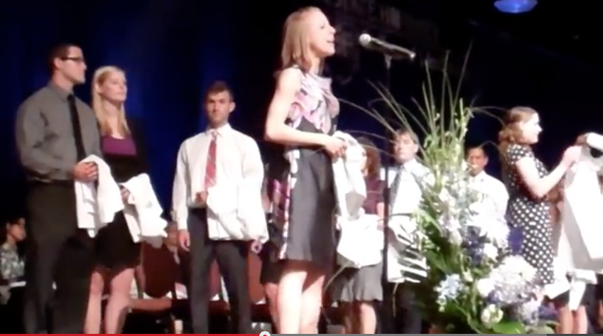 Carina Brown, four years ago at the White Coat Ceremony. See the video at http://bit.ly/1BPoqPh. Visit Penn State Medicine online after the Match Day Ceremony on March 20 for an update on Brown.