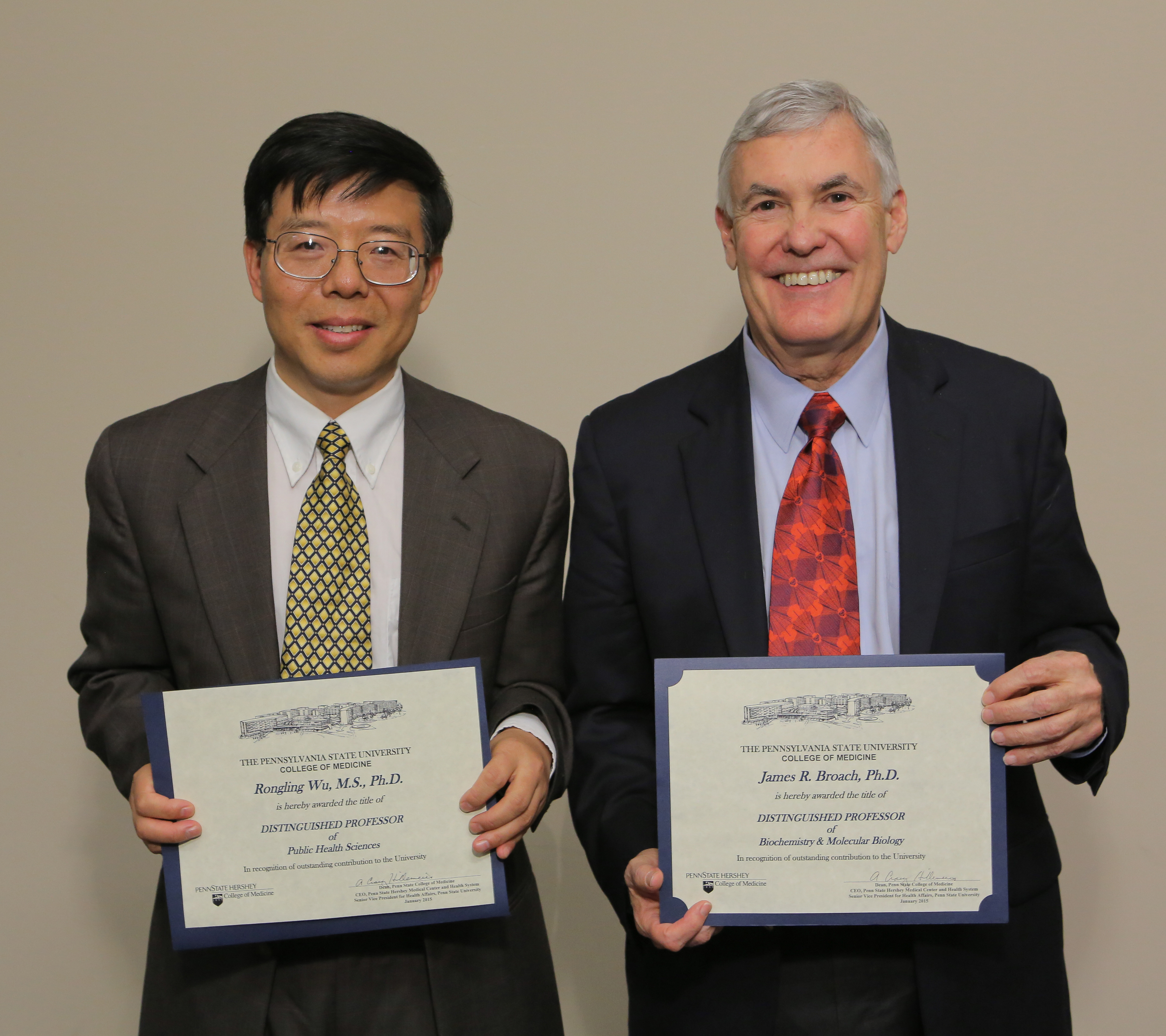 Dr. Rongling Wu and Dr. James Broach