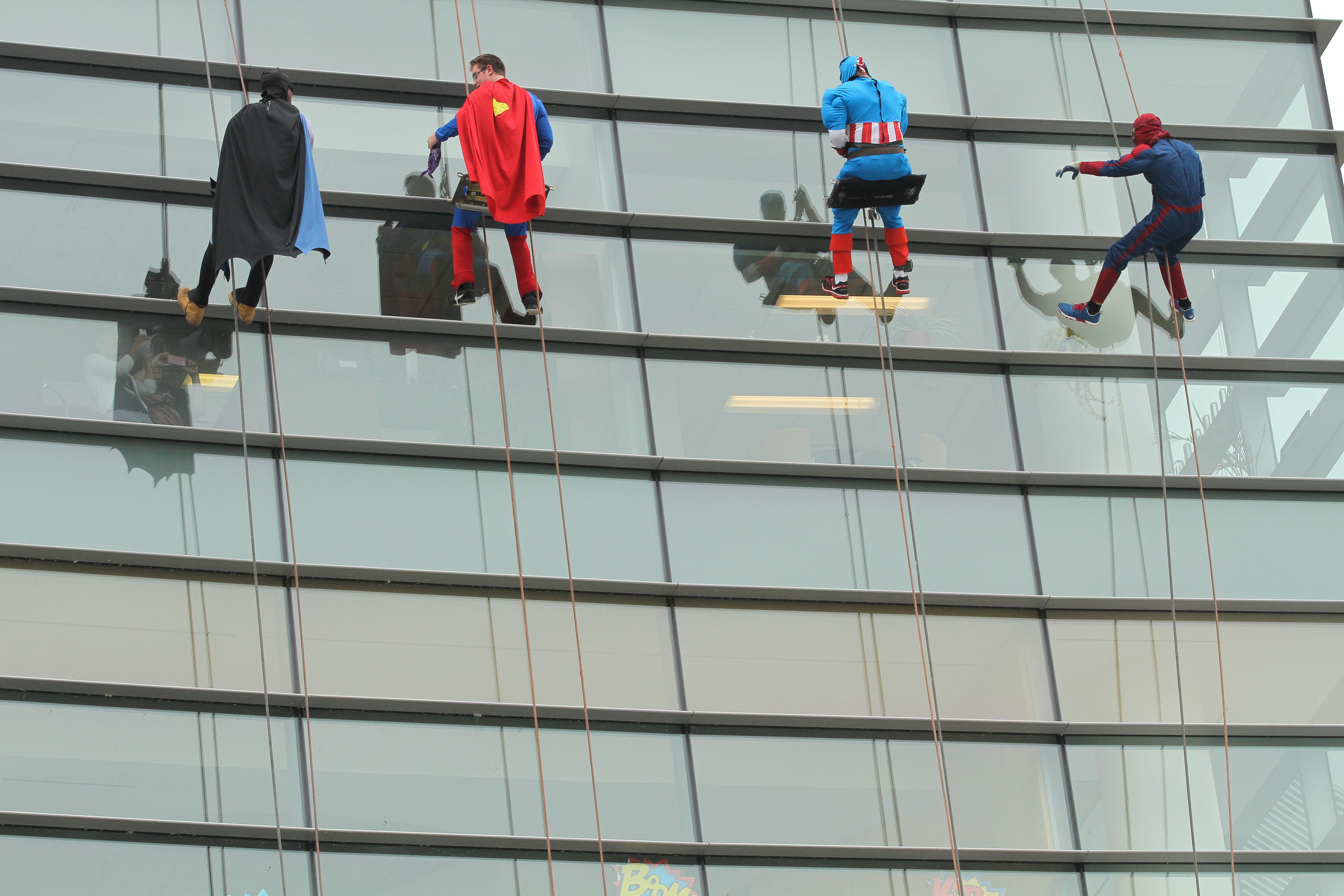 Super heroes visit Penn State Hershey Children's Hospital