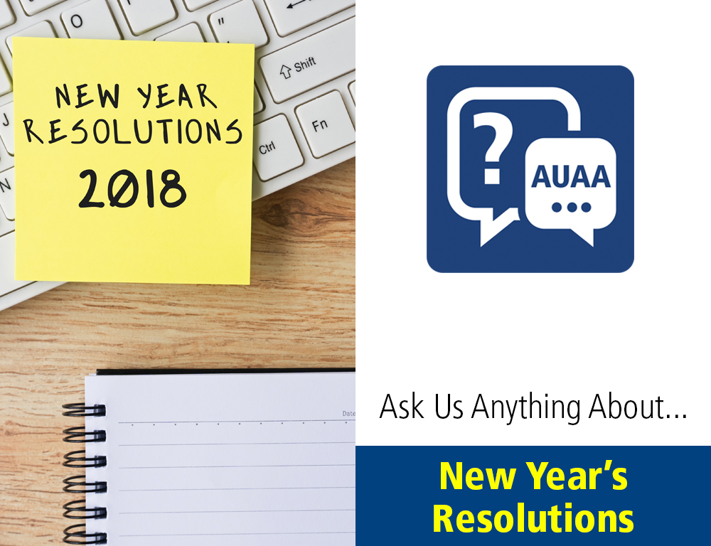 Ask Us Anything About... New Year's Resolutions