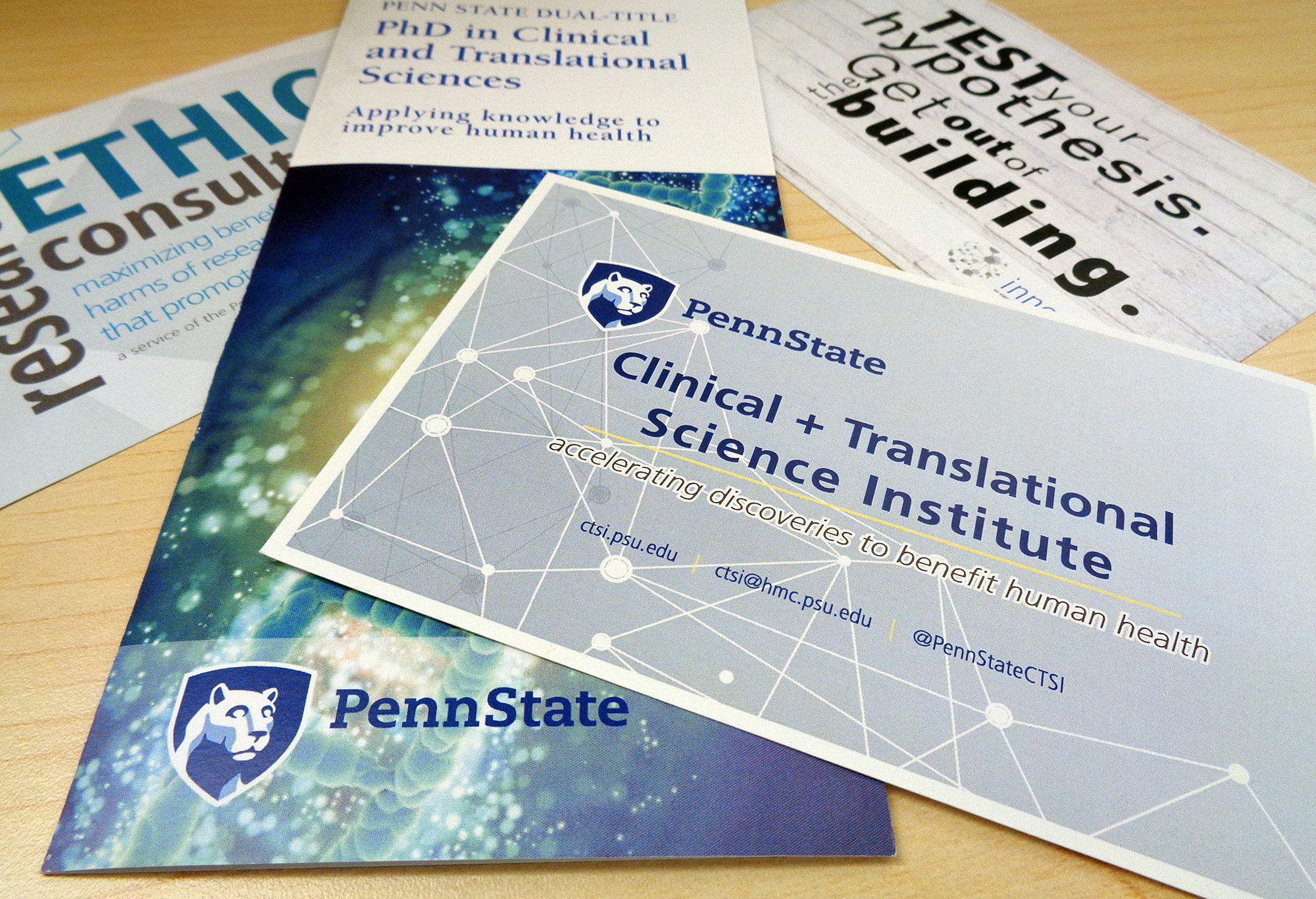 New data discovery tool can help clinical researchers penn state a promotional image for penn state clinical and translational science institute shows a number of pamplets colourmoves