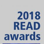 """Recipients of the 2018 READ Awards given by Harrell Health Sciences Library are, from top left, Lynette Chappell-Williams, Jennifer Fenstermaker, David Gater Jr., Eileen Moser, Edward Schwentker and Mark Stephens. Professional head-and-shoulders photos of all six recipients are set on a plain-colored background with the text """"2018 READ awards"""" at top left and Penn State College of Medicine's logo at the bottom right."""