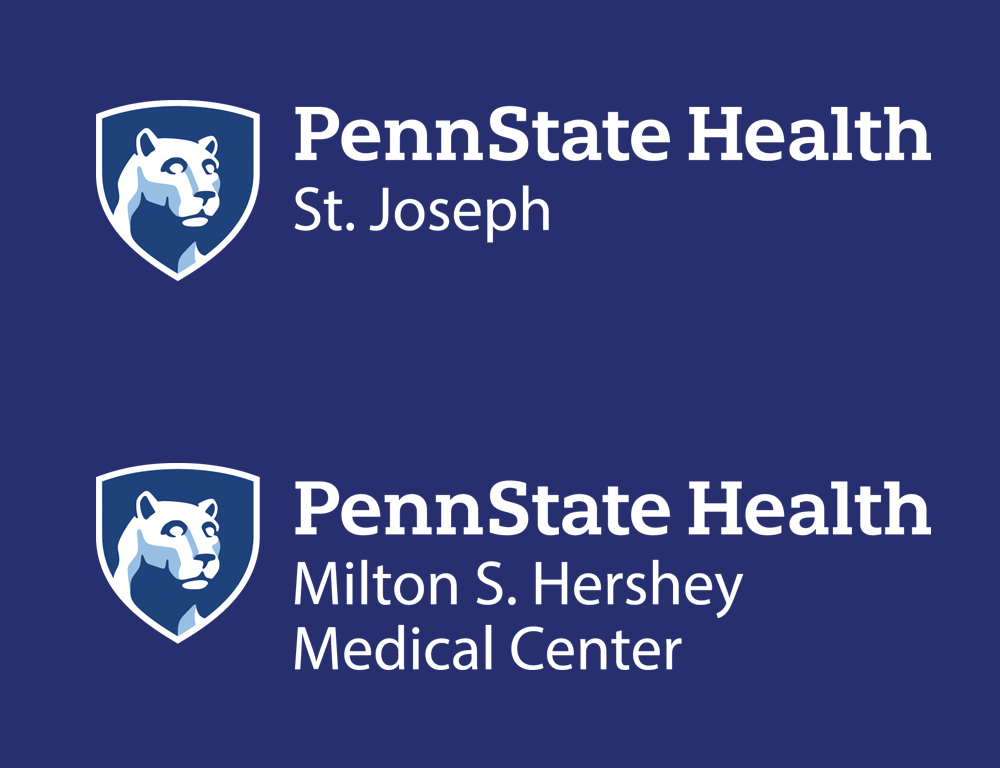 The logos for Penn State Health St. Joseph and Penn State Health Milton S. Hershey Medical Center