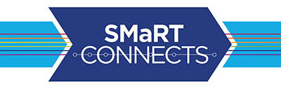 The logo for the SMaRT Connects series includes the series name inset into an arrow with colored lines running through it.
