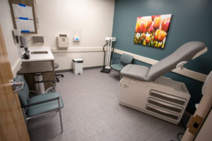 An exam room in a doctor's office